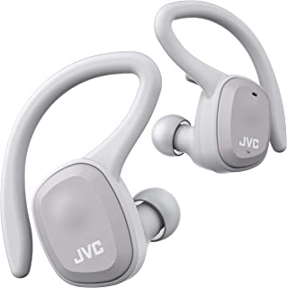 JVC HA-ET45T-H 完全ワイヤレスイヤホン 本体質量7.4g小型軽量ボディ最大14時間再生 防水防塵仕様 Bluetooth Ver5.0対応 スポーツ向け グレー