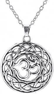 Ancient Om Indian Yoga Religious Statement Necklaces Mandala Pendant Hindu Jewelry