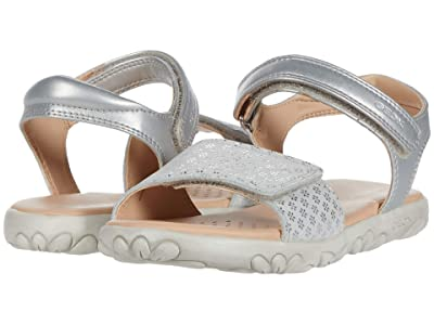 Geox Kids Sandal Haiti 7 (Little Kid/Big Kid) (Silver) Girl