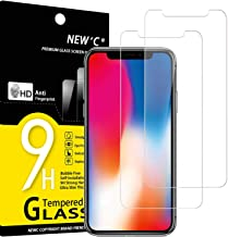 """NEW'C Lot de 2, Verre Trempé Compatible avec iPhone 11 Pro et iPhone X et iPhone XS (5.8""""), Film Protection écran sans Bulles d'air Ultra Résistant (0,33mm HD Ultra Transparent) Dureté 9H Glass"""