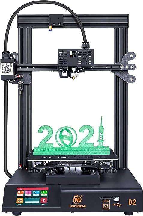 Stampante 3d mingda d2, stampante fai da te fdm con estrusore aggiornato touchscreen MINGDA-D2