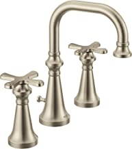 Moen TS44103BN Colinet Traditional Two Widespread High-Arc Bathroom Faucet with Cross Handles, Valve Required, Brushed Nickel