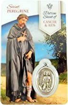 Silver Toned Healing Catholic Saint Medal with Holy Prayer Card, 1 Inch