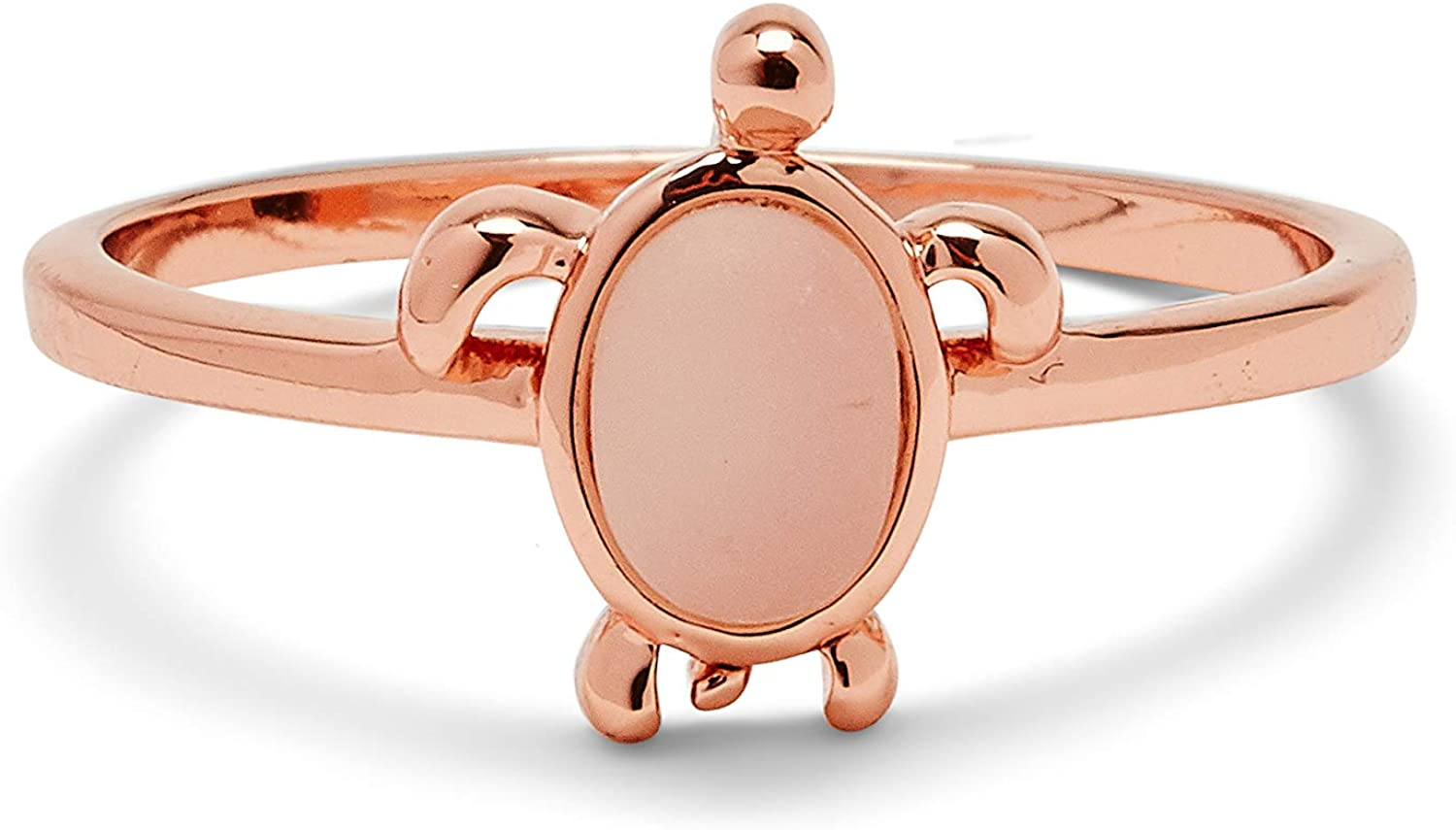 Pura Ranking Max 87% OFF TOP19 Vida Rose Gold-Plated Sea Turtle Ban Silver Sterling - Ring