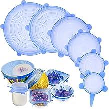 Tapas elásticas de silicona, GLURIZ 6 Piezas envoltura plástica reutilizable alternativa, fundas de ahorro, Coberturas de ...