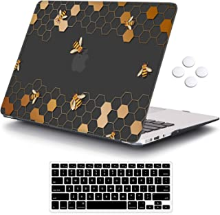 iCasso MacBook Air 13 inch Case (Release 2010-2017 Older Version), Plastic Pattern Hard Shell Protective Case & Keyboard C...
