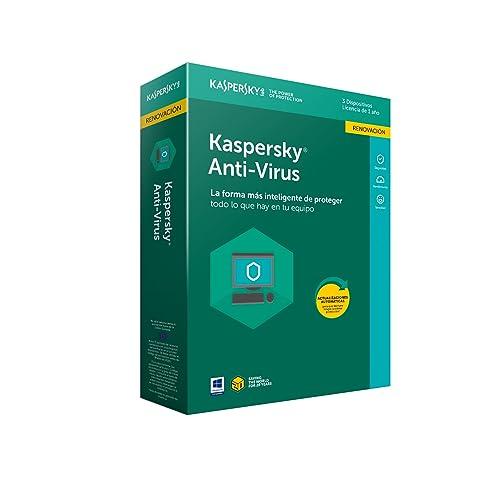 Kaspersky Antivirus 2018 Renovación - Seguridad Informática Y Privacidad, 3 Licencias
