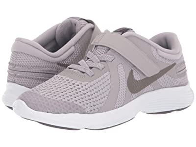 Nike Kids Revolution 4 FlyEase (Little Kid) (Atmosphere Grey/Metallic Pewter/Thunder Grey) Kids Shoes