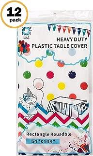 D&Z 12 Pack Plastic Tablecloth Rectangle 54