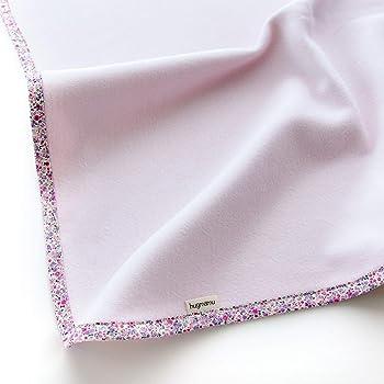 はぐまむ hugmamu® 日本製 綿毛布 ブランケット (M ベビー 85×115, フラワリー ピンク)1384-01-F