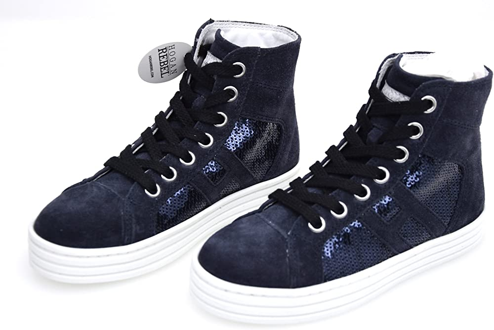 Hogan rebel scarpa sneakers casual per bambine/ragazze HXC1410P990GHN2B65