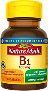 Nature Made Vitamin B1 100 mg Tablets, 100 Count for Metabolic Health