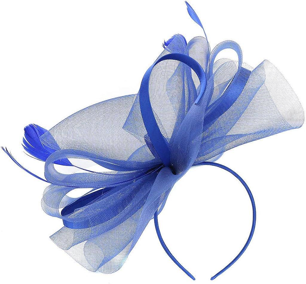 Fascinator Hat Flower Feather Net Mesh Kentucky Derby Tea Party Party Headwear Wedding Headpiece,Hair Decor Accessory
