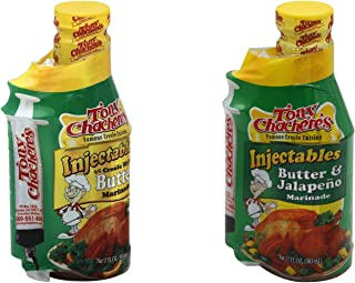 Tony Chachere's Marinade Injectables: Butter and Butter Jalapeno, 2 Pack