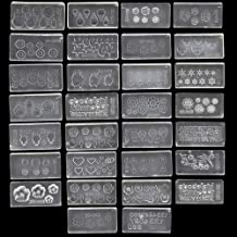 Shelloloh 30 Pcs/Set 3D Silicone 30 Pcs Nail Art Molds Mix Design DIY Nail Art Decortive Acrylic Mold for Nail Art