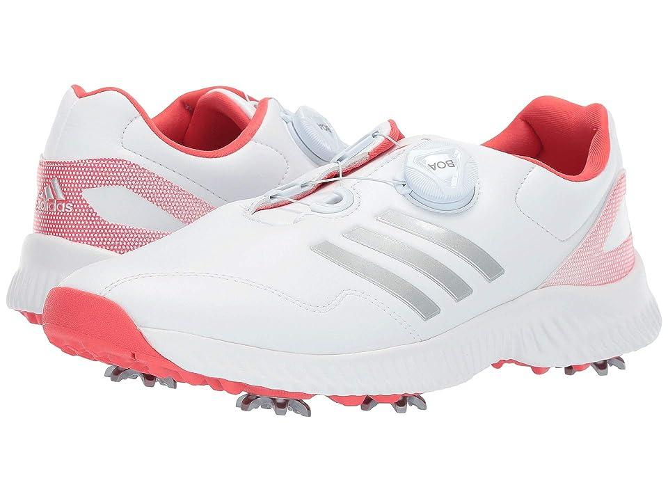 adidas Golf Response Bounce Boa (Footwear White/Silver Metallic/Real Coral) Women