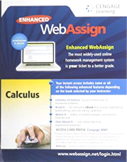 Enhanced WebAssign Printed Access Card for Calculus, Multi-Term Courses, Life of Edition, 1st Edition
