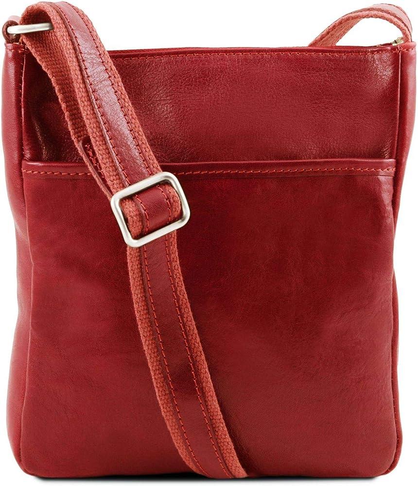 Tuscany leather jason borsello a tracolla da uomo in pelle rosso 1300_1_4
