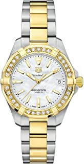 Aquaracer Mother of Pearl Dial Ladies Diamond Watch WBD1321.BB0320