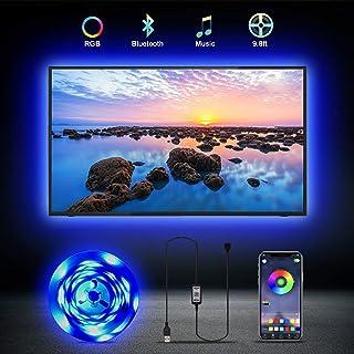 Led Strip Lights for 32-65 Inch TV Fansing 9.8ft Bluetooth App Control TV Led Backlight, Color Changing TV Led Lights for ...