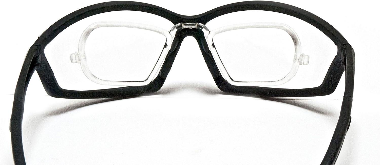 Deportes gafas Prescripción con adaptador para gafas–Ciclismo Moto Esquí Golf unidad Running–by Bertoni Italy AF100Protector de viento para gafas