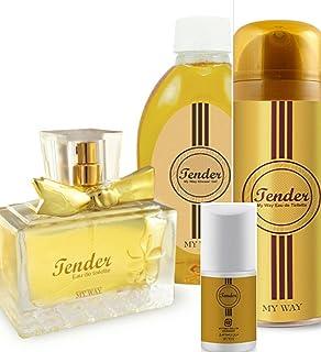 Tender Set For Women Includes 700ml Shower Gel, Roll On Perfume & Perfumed Spray 125ml