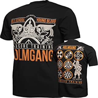 Holmgang Viking T-Shirt Men's Camiseta Hombre Fitness Workout Ejercicio Corriendo Running Ropa Basica Deportiva