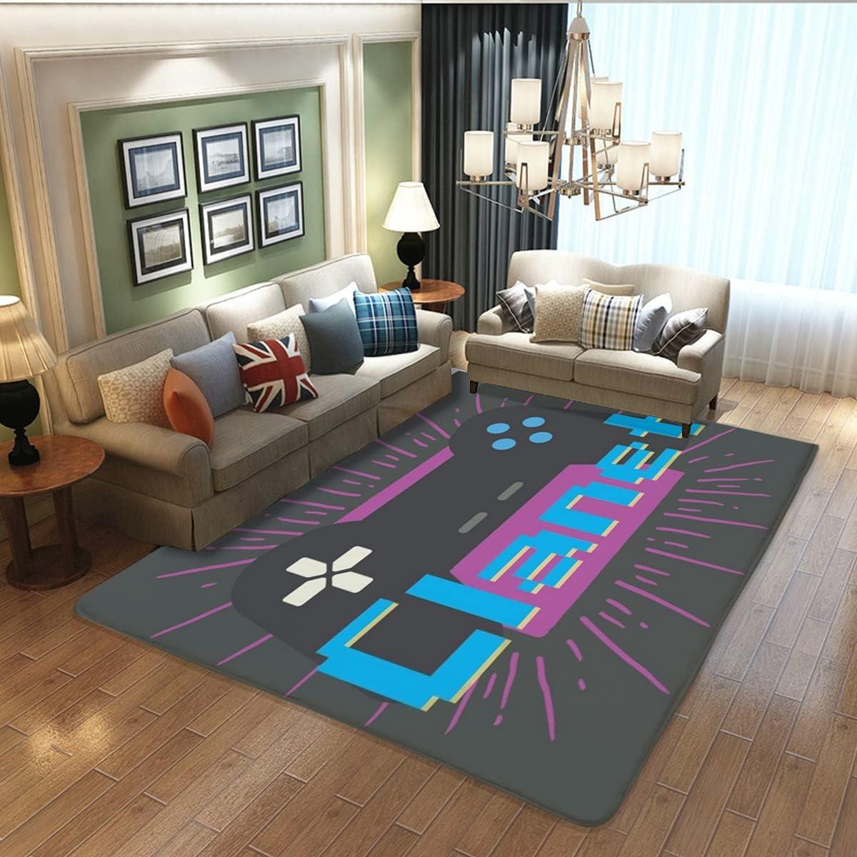 Teen Boys Carpets Printed Gamepad Bedroom Gamer Max 48% OFF Room Mat low-pricing Living