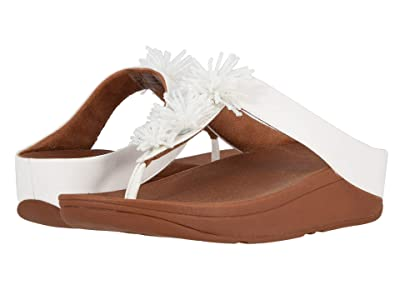 FitFlop Fino Bead Pom Pom (Urban White/British Tan) Women