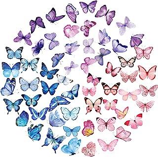 120pcs Stickers Autocollants Fleurs Papillons Plantes Auto-adhésif Sticker Scrapbooking Note Flower Décoration DIY Cadeau ...