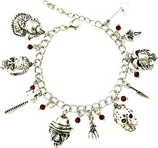Horror Classic Scary Movies Charm Bracelet Jewelry Series w/Gift Box