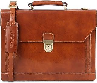 Tuscany Leather Cremona Cartella in pelle 3 scomparti Miele