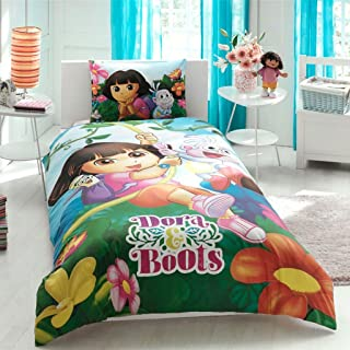 Dora Duvet Cover Set New Licensed 100% Cotton / Dora Twin Size Duvet Set / Dora Set 3 PCS