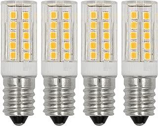 E12 LED Light Bulbs C7 Bulb 5W Daylight White 6000K 110V 120V Candelabra Bulb E12 Base 40W Incandescent Bulbs Equivalent (4-Pack)