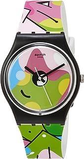 ساعة اميدج اوف غرافيتي للرجال بحركة الكوارتز ومينا متعدد الالوان من سواتش، GB317
