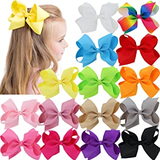 Bows For Girls Grosgrain Boutique Big Hair Bow Clips For Teens Kids Children Set Of 15