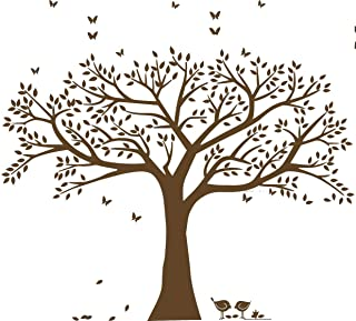 Giant Family Photo Tree Wall Decal Wall Sticker Vinyl Mural Art for Home Decor Room Decor (Brown)