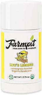 Farmpit All Natural Deodorant - USDA Certified Organic - Aluminum, Paraben, Propylene, Gluten, Cruelty and Baking Soda Fre...