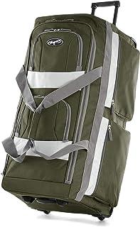 8 Pocket Rolling Duffel Bag, Green, 22 inch