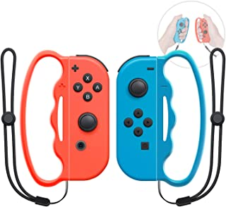 Boxing Grip for Nintendo Switch Joy-Con Fitness Boxing Game,Fit Boxing Clasp Accessories Handle for Adults and Children, 2...