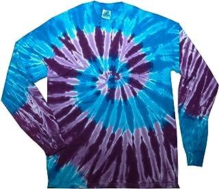 Tie Dye T-Shirts Long Sleeve Multicolor Adult 100% Pre-Shrunk Cotton