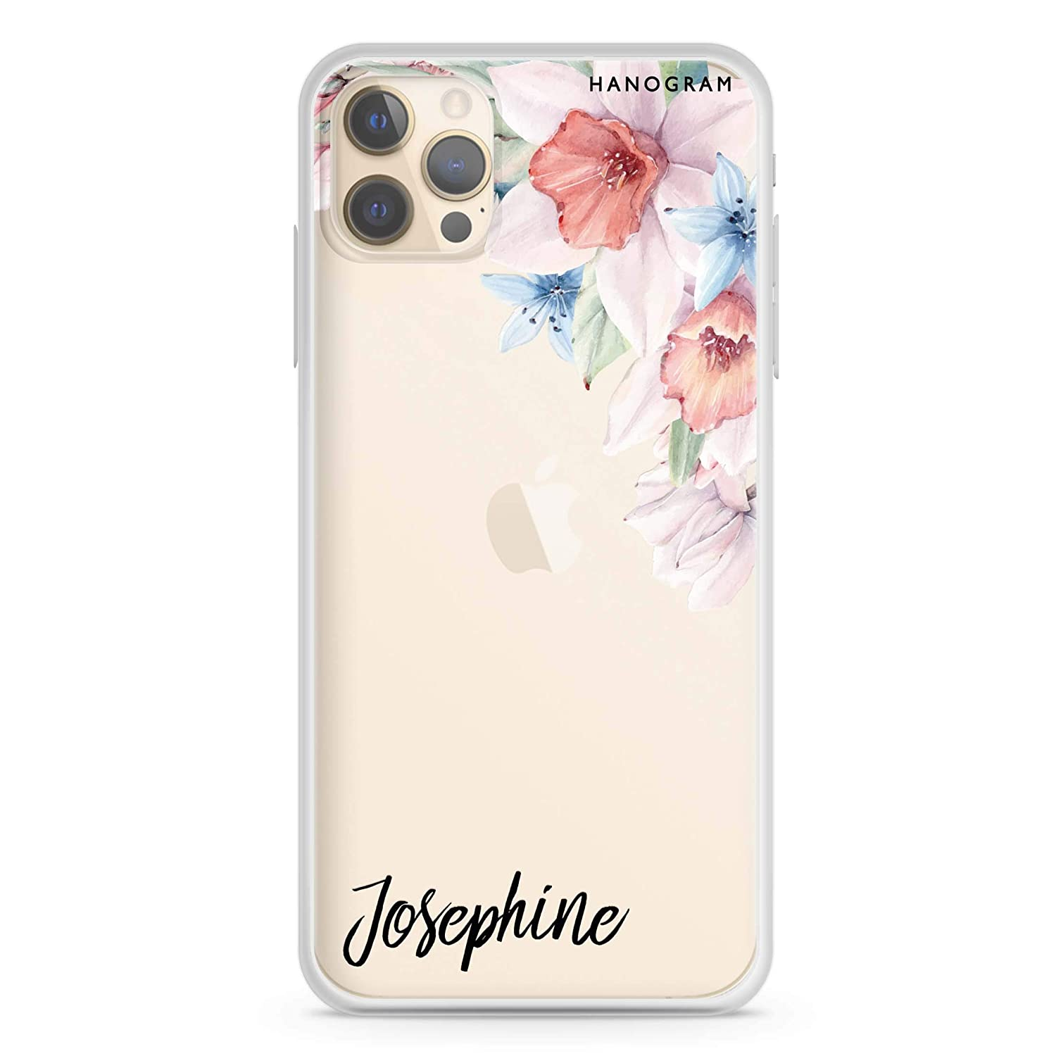 Glamour Floral iPhone Fashion Popular standard 12 Pro Clear Max Soft iPh Case