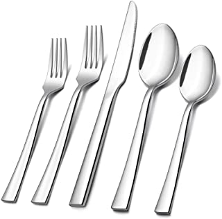 60-Piece Silverware Set, E-far Stainless Steel Flatware Set Service for 12, Tableware Cutlery Set for Home Restaurant Part...