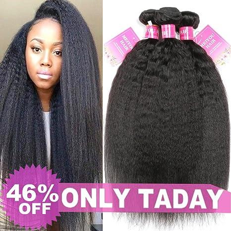 Meiyou 9A Kinky Straight Human Hair Bundles