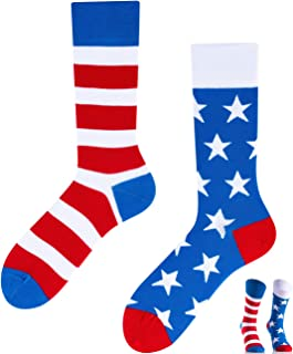 TODO COLOURS Calcetines casuales Mix & Match – America to Go – Multicolor, locos, multicolor