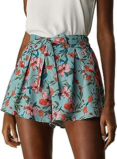 Pantaloncini estivi da donna con stampa floreale Allegra K