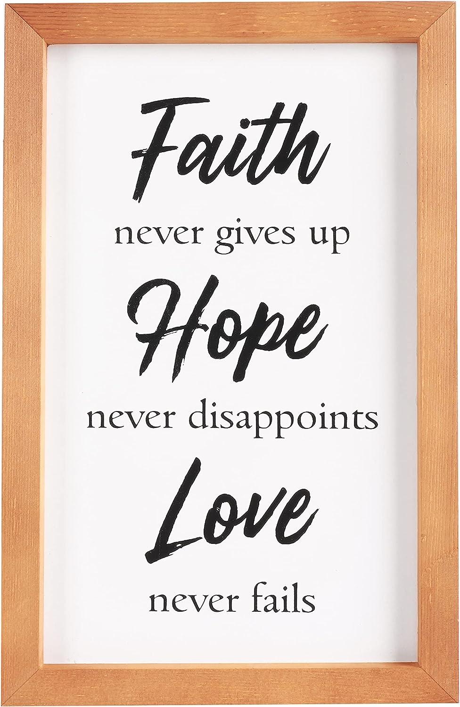 Faith Hope Love Wall Decor Sign. Farmhouse 15x9 Max 68% OFF Max 76% OFF Ch Wooden Modern