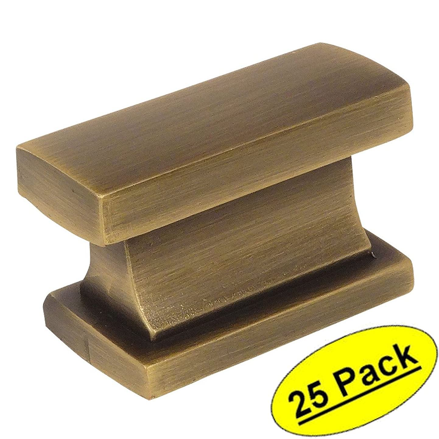 Cosmas 701BAB Brushed Antique Brass Contemporary Cabinet Hardware Knob - 1-7/16