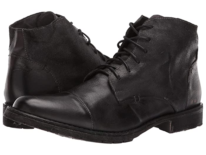 Steampunk Boots and Shoes for Men Bed Stu Dreck Black Dip-Dye Mens Shoes $185.00 AT vintagedancer.com