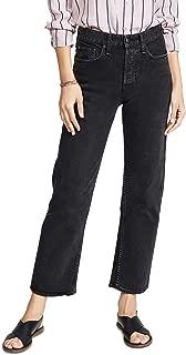 Rag and Bone Women's Maya High Rise Straight Leg Jeans Black